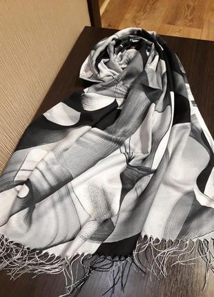♥️роскошный турецкий кашемировый шарф шаль палантин расцветки
