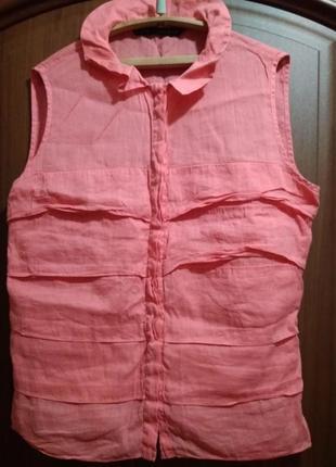 Натуральная хлопковая блузка рубашечного типа с воланами zara basic