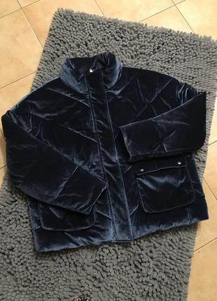 Куртка велюрова, бархат на