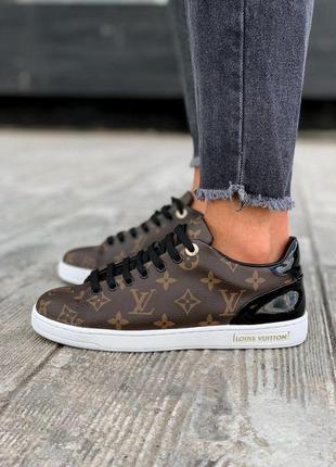 Качественные кожаные женские кроссовки коричневый цвет (весна-лето-осень)😍