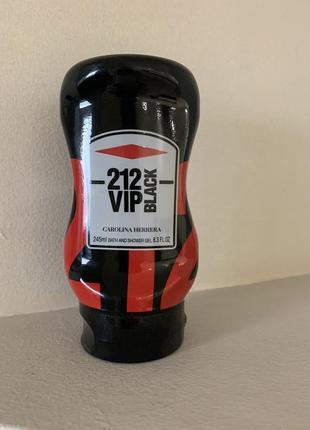 Гель д/душа муж carolina herrera 212 vip black