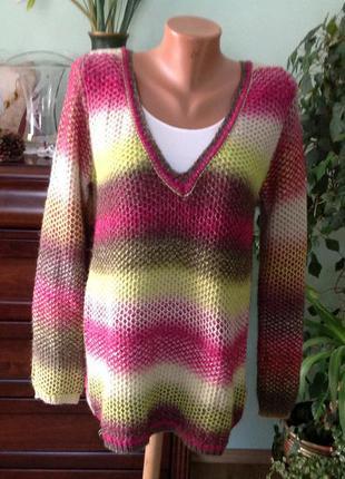 Шикарный разноцветный  пуловер /s- m/ brend. ajc