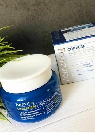 Крем с коллагеном и цветочными экстрактами farmstay collagen water full moist
