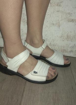 Кожаные босоножки сандалии rieker р 39 германия