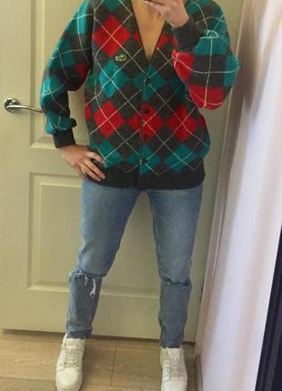 Кофта lacoste, лакосте, шерсть, кардиган, ромбик, аргайл, свитер, модный орнамент, 2020