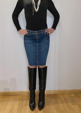 Джинсовая юбка миди uniqlo оригинал япония