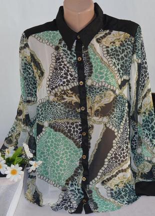 Брендовая шифоновая блуза be beau арабские эмираты принт абстракция этикетка