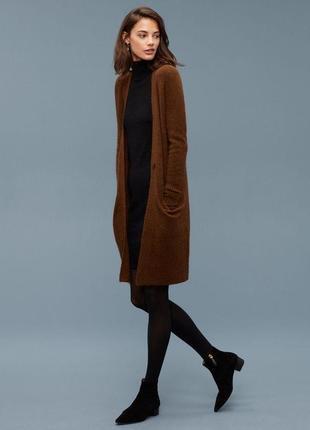 🌿 довгий коричневий кардиган vero moda