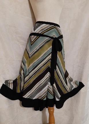Крепдешиновая юбка на крепдешиновой подкладке, 5xl,
