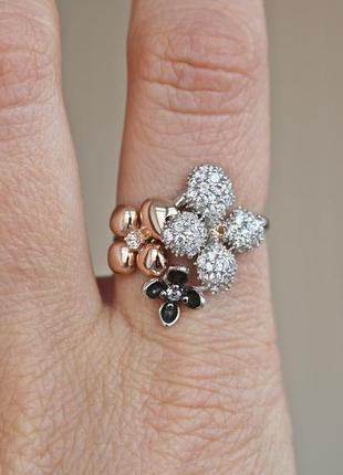 Серебряное кольцо эстель р.19,5
