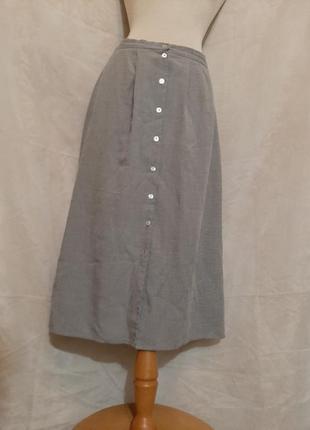 Красивая тонкая юбка на пуговицах , 3xl.