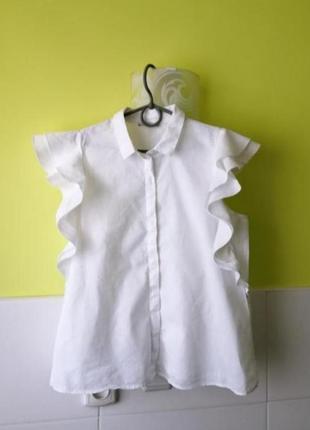 Белая рубашка лен коттон e d c