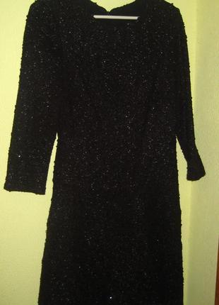 Вечернее блестящее платье теплое