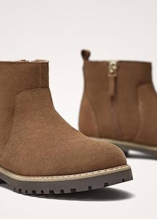 Кожа новые massimo dutti женские ботинки 34 massimo dutti черевики 34