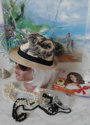 Летняя шляпа панама с короткими полями primark унисекс