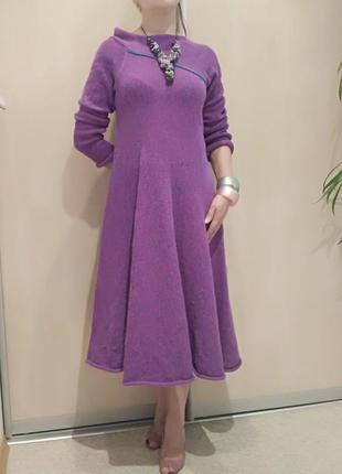 Эксклюзивное вязаное платье ручная работа авторская модель