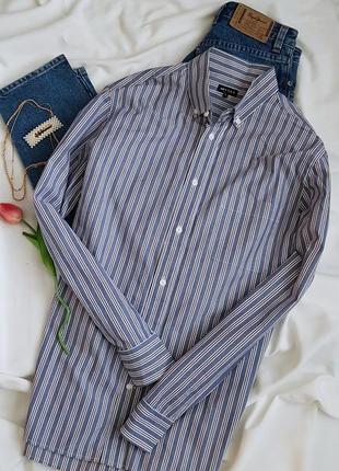 Знижка базова рубашка у полоску з чоловічого плеча  від jaeger