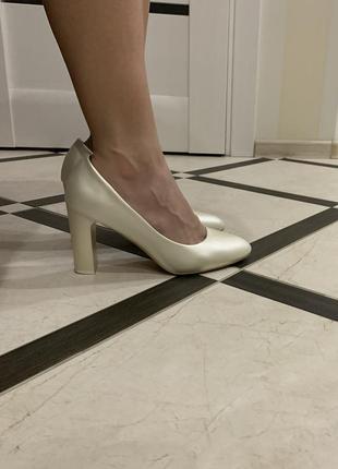 Туфли цвет жемчуг, свадебные