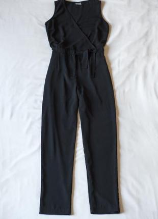 Черный строгий брючный комбинезон ромпер vero moda, размер м