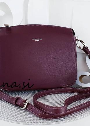 Клатч david jones cm3598a d.bordeaux оригинал бордовый кросс боди сумка марсала