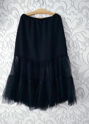 Стильная ,актуальная юбка с фатином