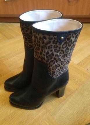 Сапоги женские кожаные осенние giorgio fabiani размер 38 италия новые