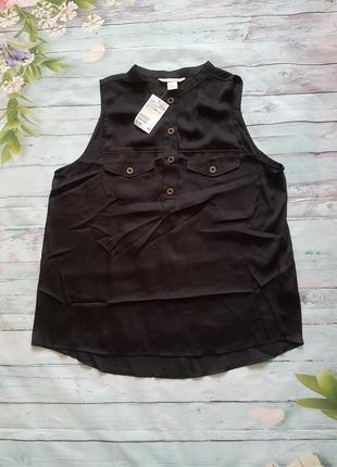 Летняя атлассная блуза