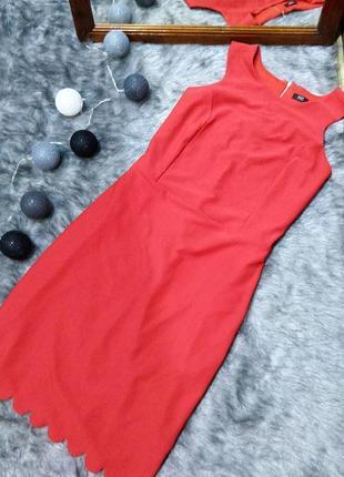 Платье футляр с фигурным низом f&f
