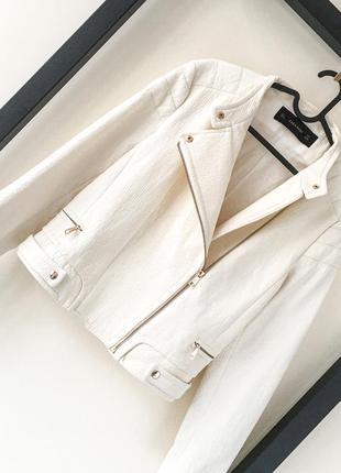 Новая премиум белая косуха zara жакет куртка