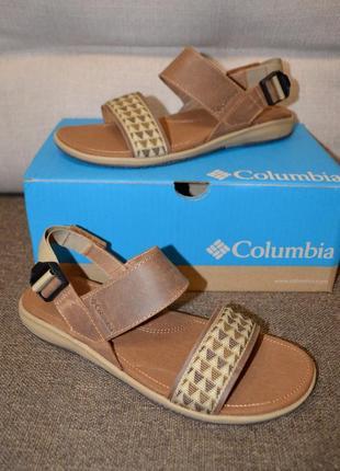 Кожаные спортивные сандалии columbia solana 8us 39 размер 25.6 см