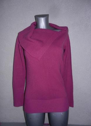Стильный свитер, джемпер цвета марсала с хомутом. 38/s