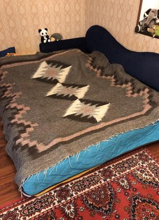 Супер тёплое шерстяное одеяло из овечьей шерсти. евроразмер.
