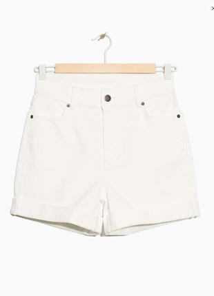 Белые джинсовые шорты& other stories ультра высокая посадка