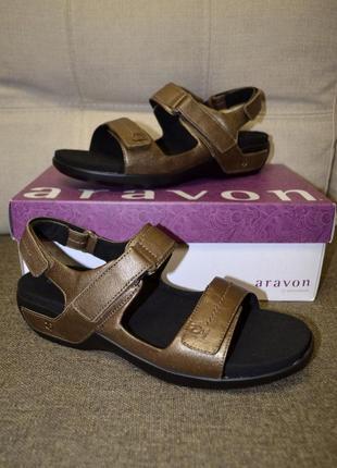 Кожаные спортивные сандалии босоножки aravon от new balance 12us 45 р