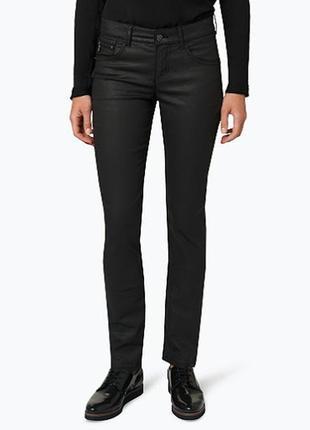 Стильные тонкие джинсы с напылением под кожу размер 18