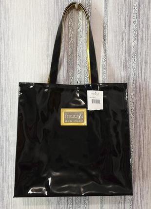Macy's new york лаковая сумка шоппер.