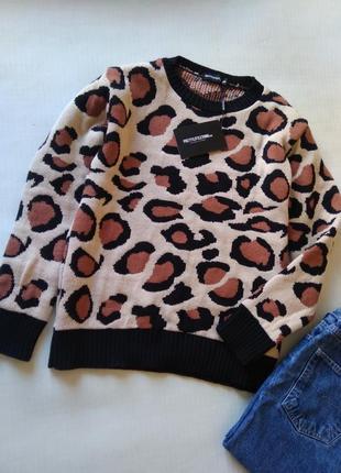 Трендовый свитер свитерок леопардовый принт prettylittlething