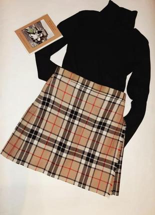 Шерстяная юбка в стиле burberry от woolmark