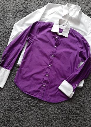"""Шикарная, сиреневая рубашка """"под запонки""""🔥"""