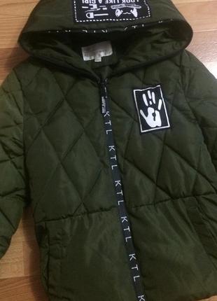 Весення, демисезонная куртка хаки, размер с-м