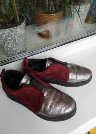 Крутые кожаные, замшевые слипоны, лоферы, куды, туфли