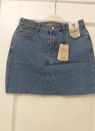Джинсовая юбка 12 размер
