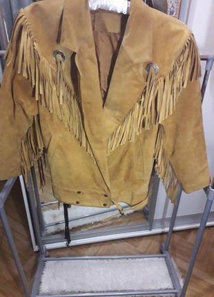 Куртка ковбойская кожаная