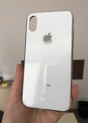 Чохол до iphone x скло