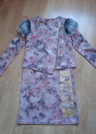 Костюм платье + жилетка