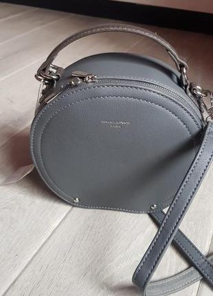 Круглая, красивая, качественная сумочка david jones