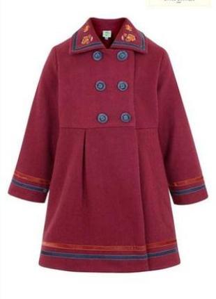 Uttam kids демисезонное шерстяное пальто 9-10 лет.