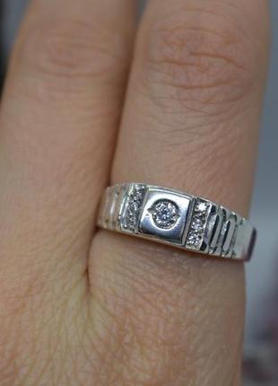 Серебряное #кольцо #каблучка #печатка #камни #унисекс #925, 18,5р-р