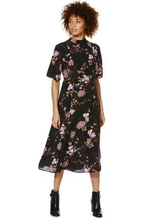 F&f вискозное платье миди с цветочным принтом, р.14