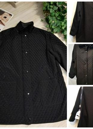 Чёрная стеганая куртка парка пальто большого размера